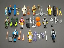 "10 Vtg 1991 GI JOE 3.75"" Figures & Accessories Lot Heavy Duty v1 Snake Eyes v4"