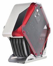 X2 SIRYUS ATX Gaming Cube LED Desktop PC Computer Gaming Caso Nero/Rosso