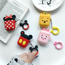 3D Cute Cartoon Minnie Earphone Cover for Apple Airpods Charging Case Holder Bag