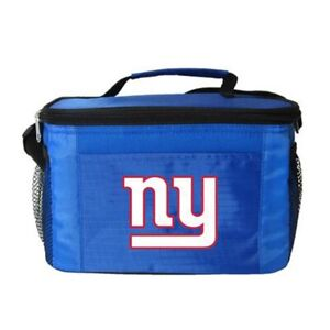 NEW YORK NY GIANTS NFL 6 PACK COOLER LUNCH BAG FREE SHIPPING
