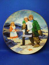 Vintage 1987 Alice in Wonderland Walrus & Carpenter Porcelain Decorative Plate