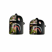 BAPE Shark Camo Backpack A BATHING APE Case Cover For Apple Airpods Pro 1st 2nd