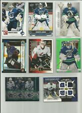 ROBERTO LUONGO RC LOT PINNACLE ZENITH GAME JERSEY BOWMAN ROOKIE CANUCKS