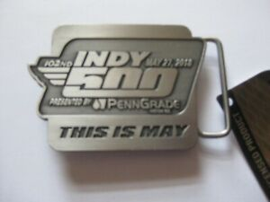 2018 Indianapolis 500 Pewter  Pit Badge Logo Belt Buckle Limited Edition New