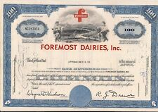 Stock certificate Foremost Dairies, Inc. dated 1967 broker Oppenheimer & Co.