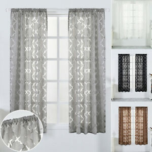 Morocco Tulle Door Window Curtains Drape Panel Sheer Valances Sheer Voile Room