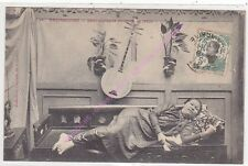 CPA COCHINCHINE  demi mondaine Annamite au repos Edit Poujade de Ladevèze ca1911