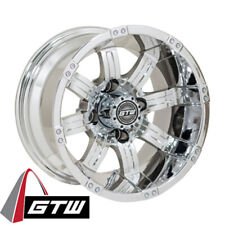 (1) Golf Cart 12 inch Gtw Tempest Chrome Wheel with 3:4 Offset
