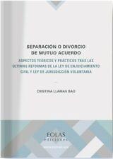 Separación o divorcio de mutuo acuerdo