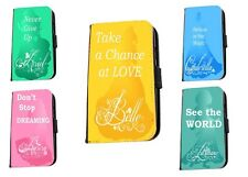 Disney Princess Quotes Ariel Belle Inspired leather phone case iphone Samsung