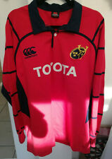 Canterbury MUNSTER RUGBY XL Long Sleeve Jersey - 2005/2007 - Hard to find