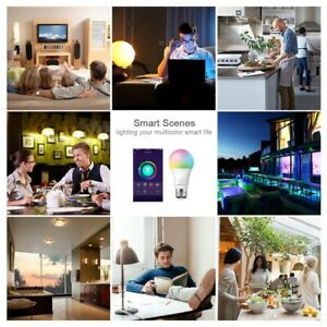 Tuya Smart Life Wifi Smart Led Light Bulb Lamp E27 10W 900Lm RGB+6500K Col U9D6