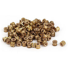 100pcs  M2*3mm Brass Cylinder Knurled Threaded Round Insert Embedded Nuts