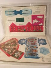 Paper Ornament Christmas House Gift Box Lot of 2 Current CO Carolers Snow NOS