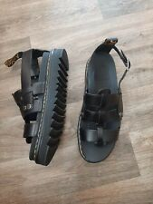 Dr Martens Terry Sandals - Brand New - Black Leather - Size UK 11