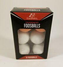 EastPoint Set of 6 Official Tournament Foosballs  2 Orange  4 white
