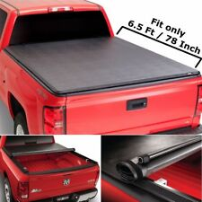 """Roll up Lock Soft Tonneau Cover For 2002-2008 Dodge Ram 1500 6.5 ft / 78"""" Bed"""