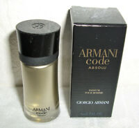 NEU = Giorgio ARMANI Code Absolu pour Homme MINIATUR Flakon 4 ml EDP Mini Sample