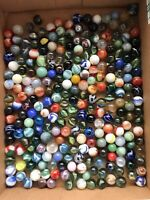 Lot of 250 Assorted Multicolored Marbles Some Are Vintage Over 2.5 Pounds Bulk