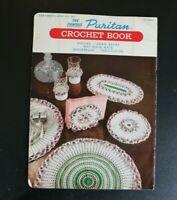Vtg Puritan Crochet Pattern Book 1953 50s Bedspread, Tablecloth Grape Doily -E=