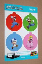 2013 Nintendo Super Mario 3D World Promo Christmas Tree Decoration Flat Mario