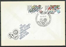 Germany (East) DDR GDR 1979 FDC Young People's Sports Day Cycling Roller-skating