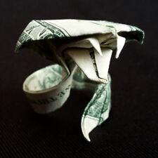 Origami Dollar COBRA Snake Sculpture Money Figurine Handmade Statue Real $1 Bill
