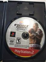 Fight Night Round 2 PS2 Disc Only Sony PlayStation Boxing Video Game Rare