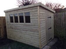 GARDEN SHED HEAVY DUTY TANALISED 10x6 PENT 13MM T&G. 3X2.