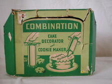 Vintage Combination Cake Decorator and Cookie Maker