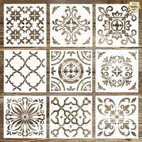 Whaline 9 Pack Mandala Stencils Tiles Template Set Reusable Stencils c2cf7c