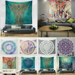 Large Indian Ombre Tapestry Wall Hangings Mandala Hippy Beach Mat Blanket Decors