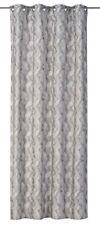 Eyelet Curtain Drape wave design light grey non-transparent Moiré 199050
