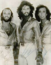 BEE GEES BARRY GIBB ROBIN GIBB MAURICE GIBB SIGNED 10x8 INCH LAB PRINTED PHOTO