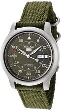 Reloj Nuevo Seiko 5 Correa de Nylon Automático Militar SNK805