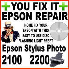 Epson Stylus Photo 2100 & 2200: Service Repair Reset Fault Fix Flashing Light CD