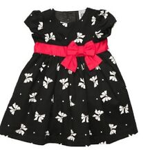 SUPER SALE! Size 9 month Holiday Christmas Dress Black & White Bows RED BOW NWT