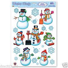 Window Cling Decorations vinyl christmas & winter window decorations | ebay