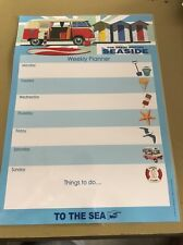 Laminated Weekly Planner The Great British Seaside (13)