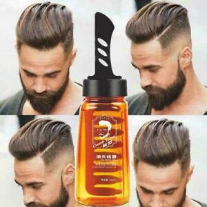 2-In-1 Men Oil Head Hair Cream Wax Gel With Comb Hair Fluffy Hair Q Styling I3I9