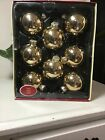 Holiday living by Krebs 8 gold colored glass christmas balls