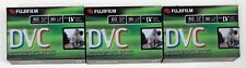 Fujifilm Mini Digital Videocassette DVC - 60 min SP / 90 min LP Lot Of 3 - New