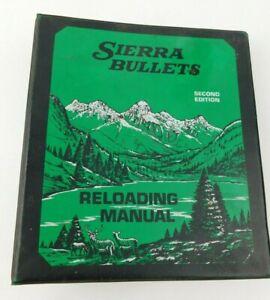 Sierra Bullets Reloading Manual Rifle 1978 Second Edition Binder Service Manuel