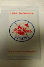 1991 Toledo Mud Hens Pocket Schedule in Mint Conditon. Minor League Baseball MLB