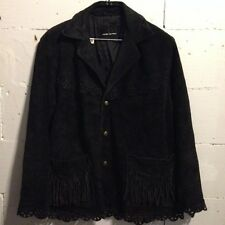 """Authentic HYSTERIC GLAMOUR """"koboy singkek"""" western fringed suede jacket size L"""