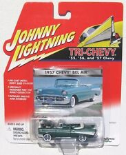 JOHNNY LIGHTNING R1 TRI-CHEVY 1957 CHEVY BEL AIR CONVERTIBLE White wall tires 13
