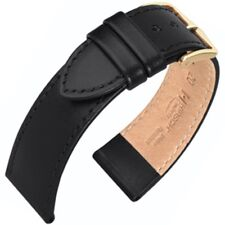 Genuine Hirsch Umbria Stitched Leather Watch Strap Choice of Width & Colour