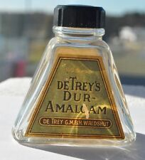 1930s Germany Nazi Era Apotheca Pharmacy Cure Bottle DE TREY AMALGAM WALDSHUT