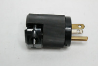 Hubbell Male Edison Plug Black 3-Wire 2-Pole 15 Amp 125 V HBL5266CM2