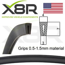 Small Low Profile Black Rubber U Channel Edging Trim Seal Extrusion Protector